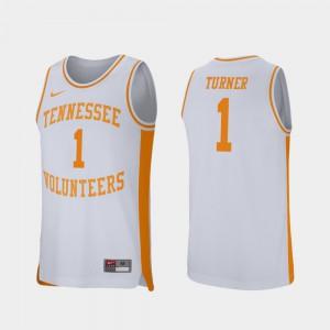 UT VOL #1 Men's Lamonte Turner Jersey White NCAA College Basketball Retro Performance 461717-559