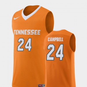 UT VOLS #24 Mens Lucas Campbell Jersey Orange Official Replica College Basketball 146096-820