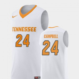 TN VOLS #24 Men Lucas Campbell Jersey White University Replica College Basketball 208363-696