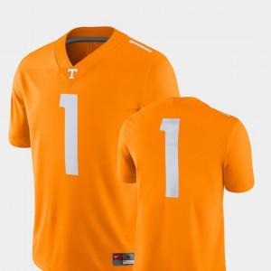 UT Volunteer #1 Men Jersey Tenn Orange University College Football 2018 Game 117556-503