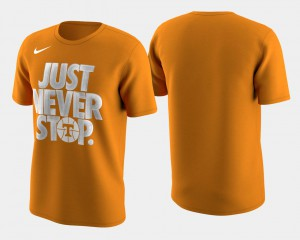 Tennessee Volunteers For Men's T-Shirt Tennessee Orange Basketball Tournament Just Never Stop March Madness Selection Sunday Stitched 660288-593