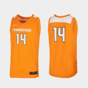 Tennessee Volunteers #14 Men's Jersey Tennessee Orange Official Replica College Basketball 898056-141