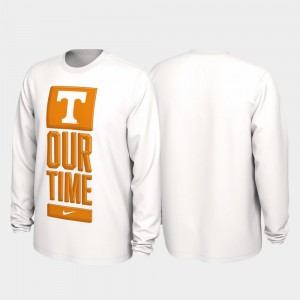 UT VOLS Men's T-Shirt White Official 2020 March Madness Our Time Bench Legend 119793-797