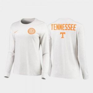 UT Volunteer Men's T-Shirt White College Rivalry Statement Long Sleeve 475577-789