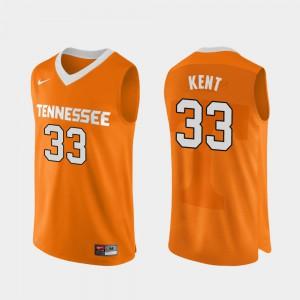 VOL #33 Men Zach Kent Jersey Orange College Basketball Authentic Performace College 485479-689