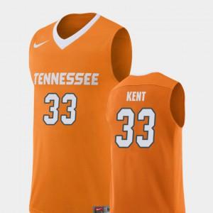 UT Volunteer #33 Mens Zach Kent Jersey Orange Stitched College Basketball Replica 557928-544