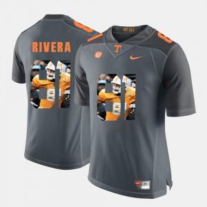 Tennessee #81 Men Mychal Rivera Jersey Grey Player Pictorial Fashion 588466-277