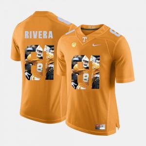 UT Volunteer #81 Men Mychal Rivera Jersey Orange College Pictorial Fashion 557117-627