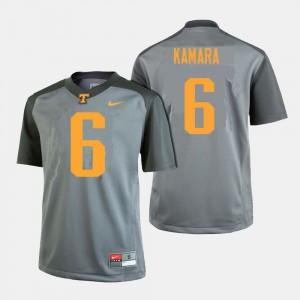 UT #6 Mens Alvin Kamara Jersey Gray Stitched College Football 324407-757