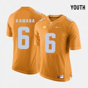 Tennessee #6 Youth Alvin Kamara Jersey Orange College College Football 221533-563