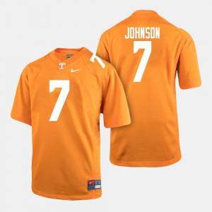 Tennessee Vols #7 For Men Brandon Johnson Jersey Orange Stitched College Football 980305-550