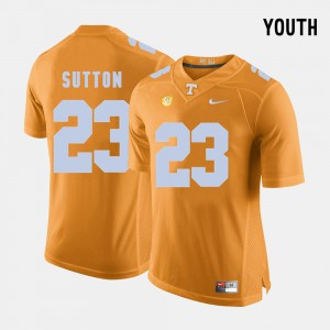 Tennessee Vols #23 Youth(Kids) Cameron Sutton Jersey Orange Stitched College Football 508031-434