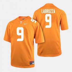 University Of Tennessee #9 For Men's Cheyenne Labruzza Jersey Orange College Football High School 127057-914
