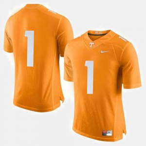 Tennessee Vols #1 Men's Jersey Orange Official College Football 147891-235