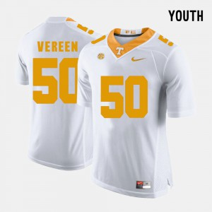 Tennessee #50 For Kids Corey Vereen Jersey White College Football College 470477-839