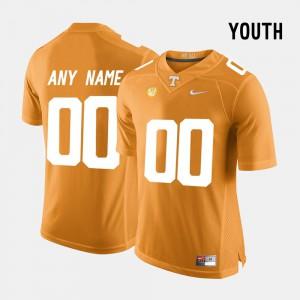 UT Volunteer #00 For Kids Customized Jersey Orange High School College Limited Football 465037-401