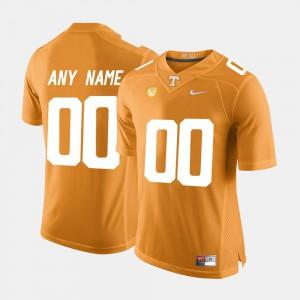 UT VOL #00 Mens Custom Jerseys Orange College Limited Football High School 326854-828