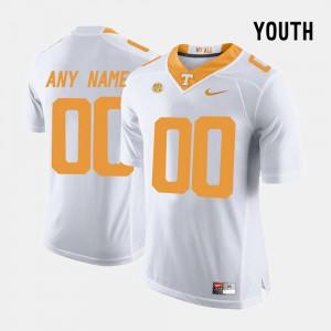UT #00 Youth(Kids) Custom Jersey White Alumni College Limited Football 607868-160
