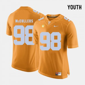 Vols #98 Youth(Kids) Daniel McCullers Jersey Orange NCAA College Football 258752-173