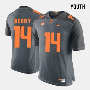 UT VOLS #14 Youth Eric Berry Jersey Grey Stitched College Football 349339-755