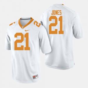 Tennessee Volunteers #21 Men's Jacquez Jones Jersey White College Football Player 487933-773