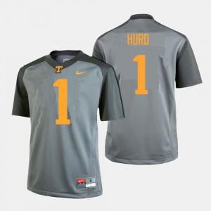 UT #1 Men Jalen Hurd Jersey Gray College College Football 773850-766