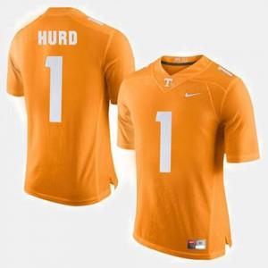 Tennessee #1 Mens Jalen Hurd Jersey Orange Stitched College Football 385446-136