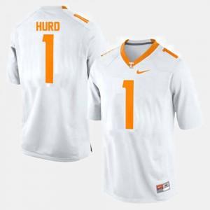 Vols #1 Mens Jalen Hurd Jersey White Official College Football 328371-188