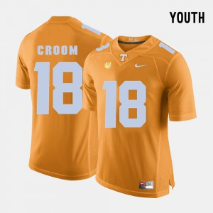 Vols #18 Youth Jason Croom Jersey Orange College Football Official 495599-203