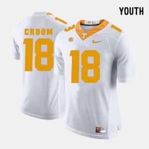 UT VOLS #18 Kids Jason Croom Jersey White College Football College 322760-559