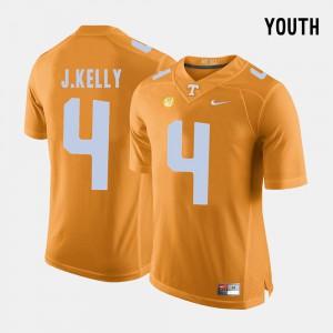 UT VOLS #4 Kids John Kelly Jersey Orange University College Football 969295-290