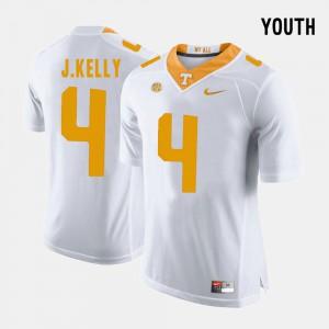 VOL #4 Youth John Kelly Jersey White Alumni College Football 255058-978