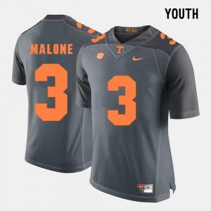VOL #3 Youth(Kids) Josh Malone Jersey Grey Alumni College Football 931858-785