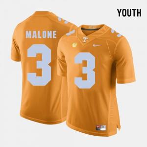 UT #3 Youth Josh Malone Jersey Orange College Football Player 275681-518