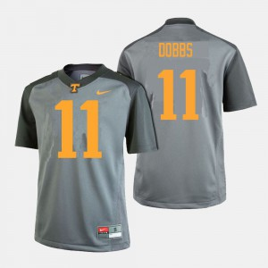 TN VOLS #11 Men's Joshua Dobbs Jersey Gray College Football High School 921450-186