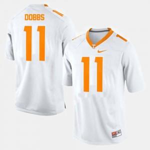UT #11 For Men Joshua Dobbs Jersey White Stitched College Football 879977-389