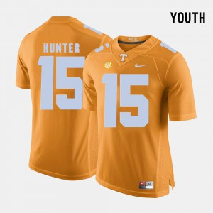 University Of Tennessee #15 Youth(Kids) Justin Hunter Jersey Orange College Football Official 592538-983