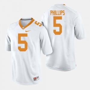 Tennessee Volunteers #5 Men Kyle Phillips Jersey White College Football Alumni 627710-691