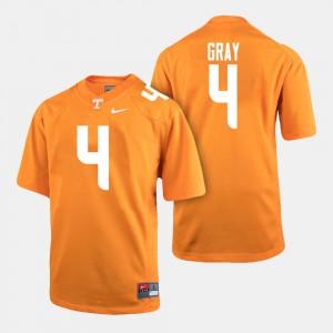 UT VOLS #4 Men's Maleik Gray Jersey Orange Embroidery College Football 687381-295