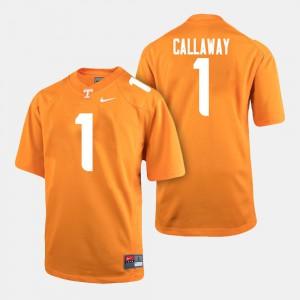 VOL #1 Mens Marquez Callaway Jersey Orange College Football NCAA 785466-172