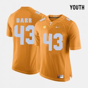 Vols #43 Kids Matt Darr Jersey Orange College College Football 333427-933