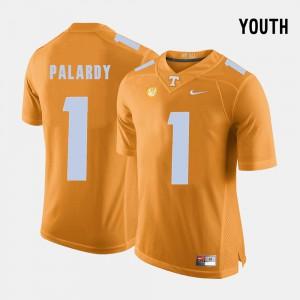 TN VOLS #1 Youth(Kids) Michael Palardy Jersey Orange College College Football 241114-336