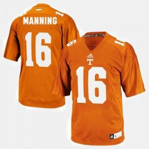 UT Volunteer #16 Kids Peyton Manning Jersey Orange NCAA College Football 775722-181