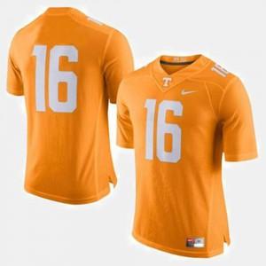 UT VOL #16 Men's Peyton Manning Jersey Orange Embroidery College Football 468467-766
