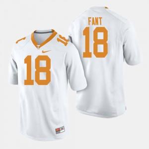 UT VOLS #18 For Men's Princeton Fant Jersey White College Football High School 908088-759