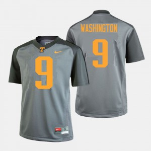 University Of Tennessee #9 For Men's Seth Washington Jersey Gray Alumni College Football 769952-218