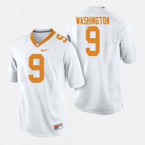 UT VOL #9 Men Seth Washington Jersey White College Football Alumni 676180-282