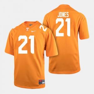 TN VOLS #21 Mens Shanon Reid Jersey Orange Stitch College Football 446198-295