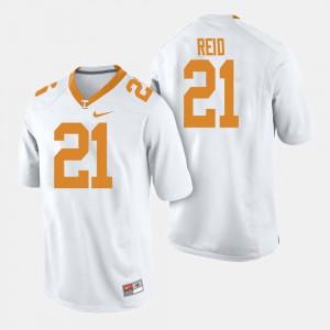 VOL #21 Men Shanon Reid Jersey White College Football Embroidery 435549-839