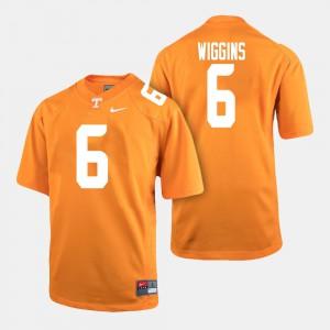 University Of Tennessee #6 Men's Shaq Wiggins Jersey Orange Player College Football 526332-565